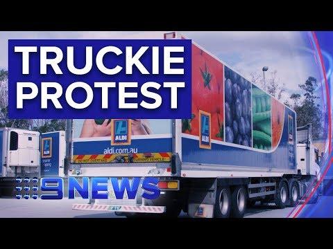 Hundreds Of Truck Drivers To Protest ALDI Across Australia | Nine News Australia