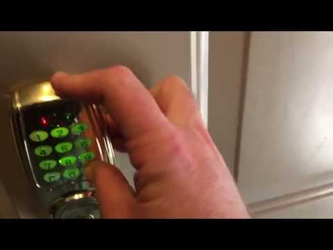 Gatehouse / Schlage electronic keypad deadbolt install demo DIY