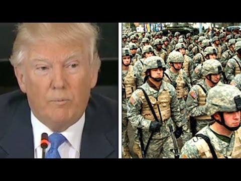 """Trump: Deportations Are """"Military Operation"""""""