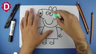 Peppa Pig - Como desenhar com um círculo simples e fácil (para crianças)