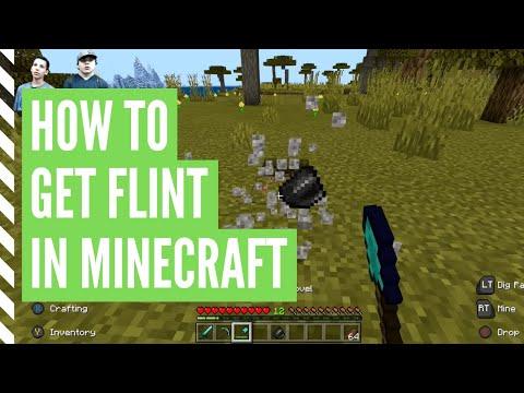 How To Get FLINT In Minecraft