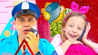 Nastya teaches different weather and natural disasters. Useful stories for children