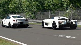 2020年発売予定のGT-Rと2017年GT-Rの対決 GTsport