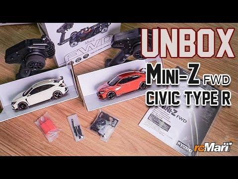 Kyosho Mini-Z FWD MA-03F Honda CIVIC Type R (Championship White & Flame Red ) Unbox!