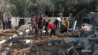 Gaza Strip Residents Evaluate Damage to Homes after Israeli Shelling