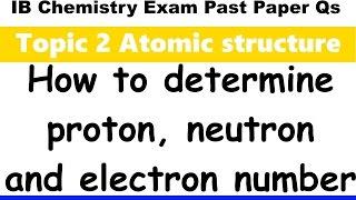 how to determine subatomic particle number ib chemistry past paper exam qs 2016 specimen p1 sl q6