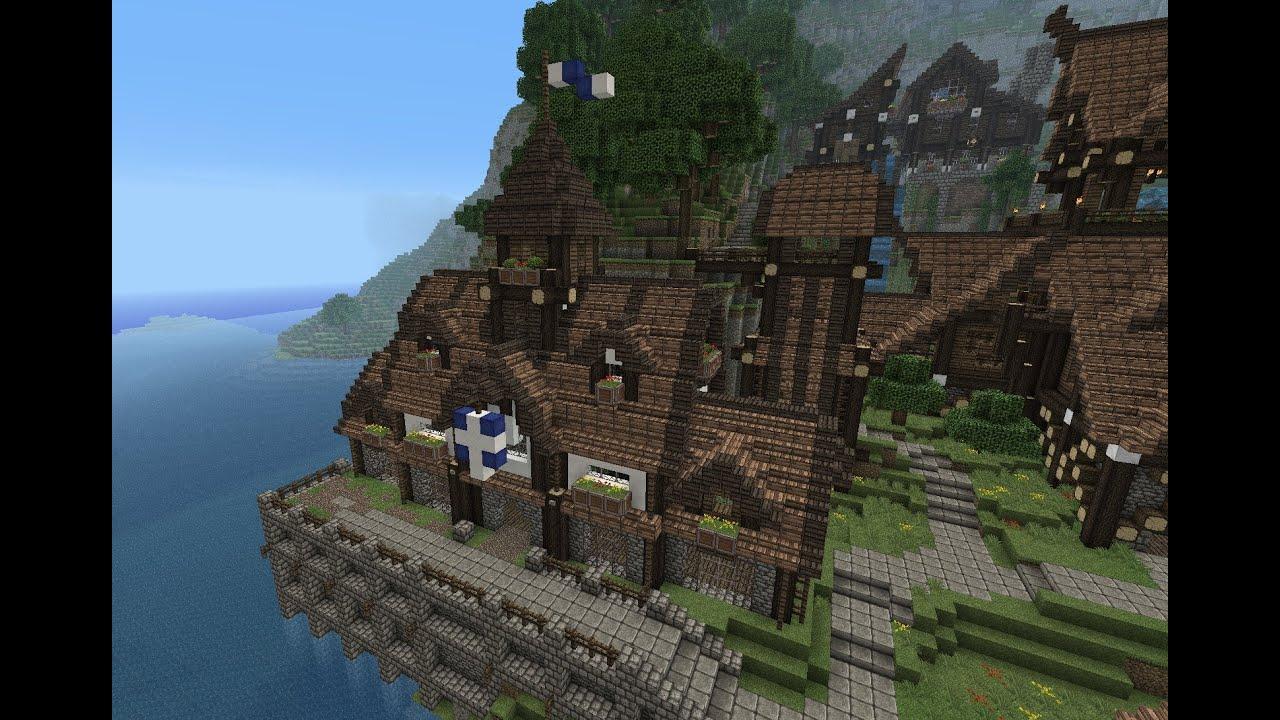 Minecraft Gundahar Tutorials Medieval Townhall Part 2