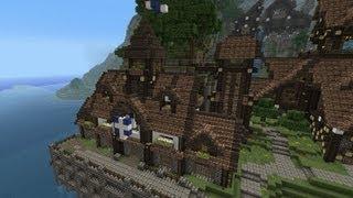 minecraft medieval build townhall tutorials mine