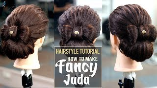 How To Make Fancy Juda? | Easy Updo Hairstyles | Step By Step New Hairstyle Tutorials | Khoobsurat