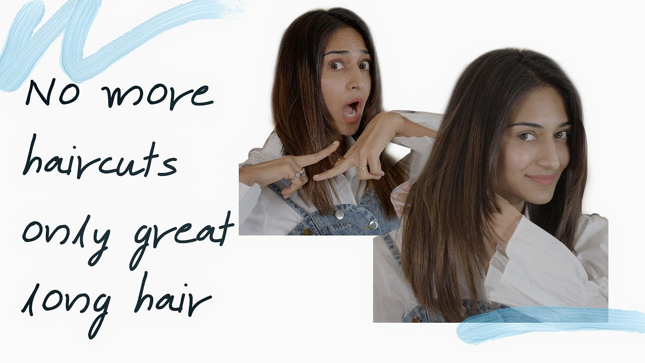 How to grow your hair faster and longer and seal split ends | No haircut cream |
