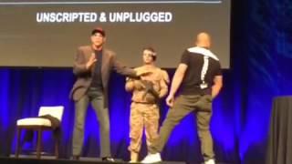 Van Damme gets kicked in the head