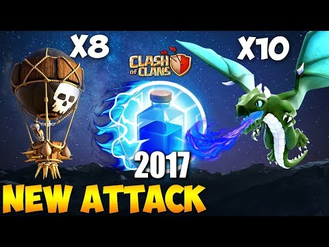 Dragon + Balloon: DRAGOON NEW TH9 STRONG WAR ATTACK STRATEGY 2017 | Clash of Clans