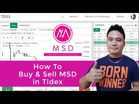 Monspace Tutorial: How to buy and Sell MSD in Tidex Exchange