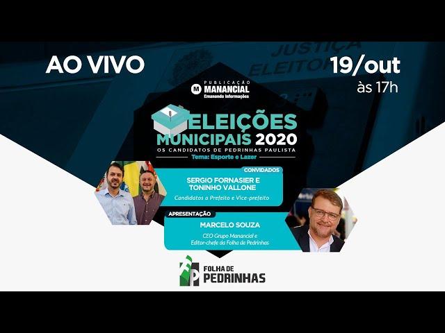 ESPORTE E LAZER |  Sergio e Toninho Vallone | Eleições Municipais 2020 |Pedrinhas Paulista