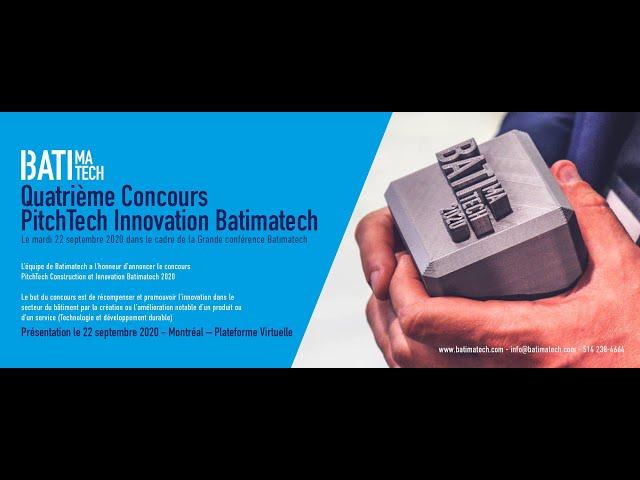 Concours Batimatech PitchTech Innovation Construction