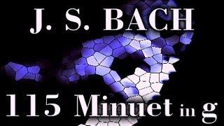 Johann Sebastian BACH: Minuet in G minor, BWV Anh. 115