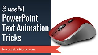 Learn 3 Useful PowerPoint Text Animation Tricks - Easily