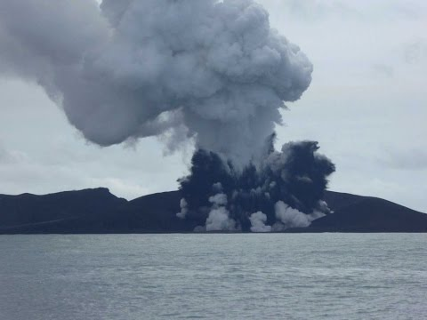 Tonga Volcano Eruption Creates New Island