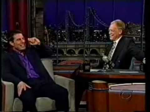 Tom Cruise gets hysterical on Letterman