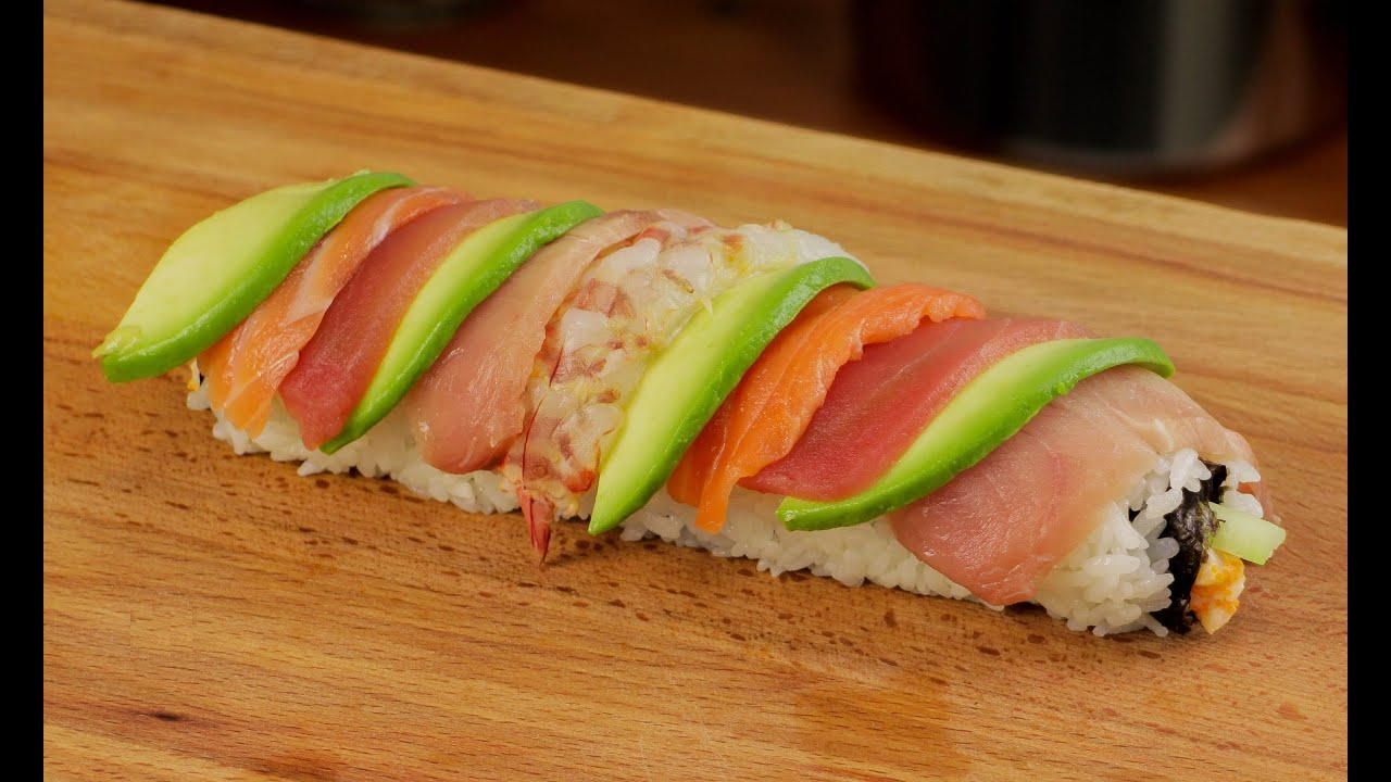 Rainbow Sushi Roll Recipe Youtube