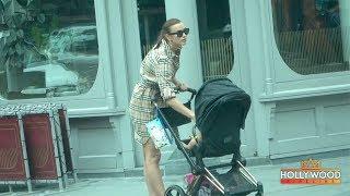 Irina Shayk Walking Lea in NYC After Breaking Up with Bradley Cooper Video