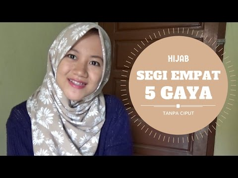 Tutorial Hijab Segitiga Simple Tanpa Ninja Bisabo Channel