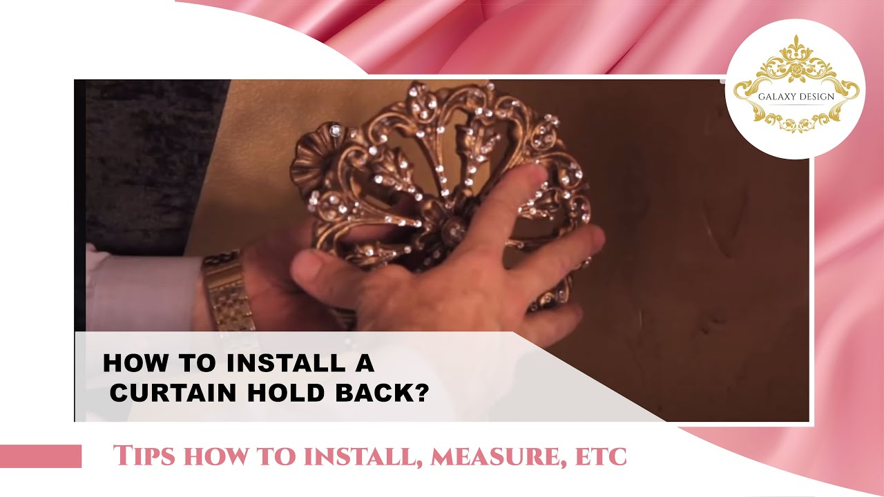 video #46: tips from us: how to install curtain holdbacks in 3