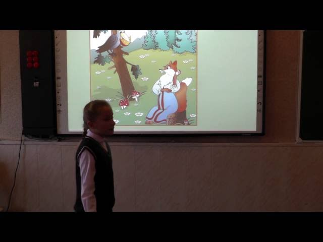 Изображение предпросмотра прочтения – «Черниговская Ульяна и Мауль Валерия» читают произведение «Ворона и Лисица» И.А.Крылова