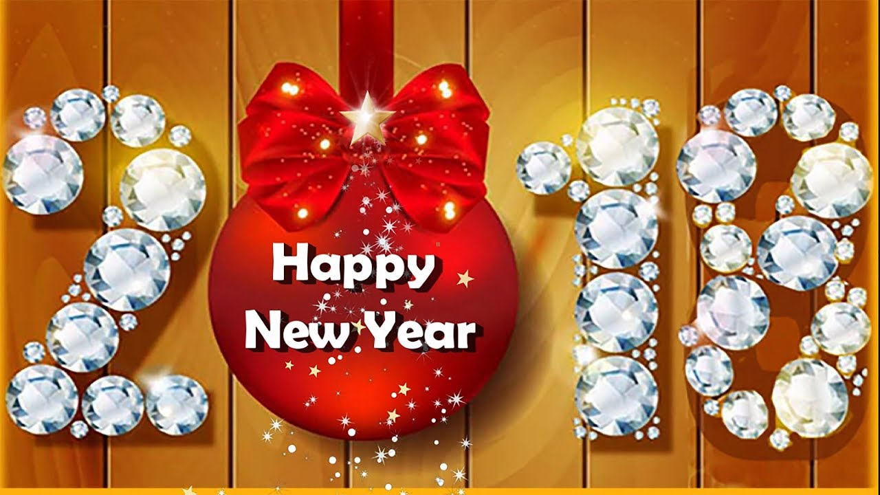 Happy New Year 2018 Greeting Card For Whatsapp - YouTube