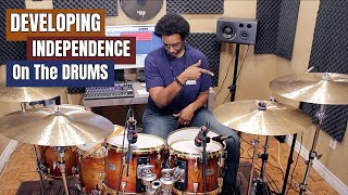 DEVELOPING INDEPENDENCE w/ 2 EASY OSTINATOS! (The Only 3 Rudiments You Need To Do In 2020- PART II)