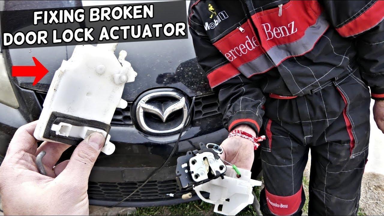Mazda Door Lock Actuator Motor Replacement Door Does Not Lock Unlock Fix Youtube