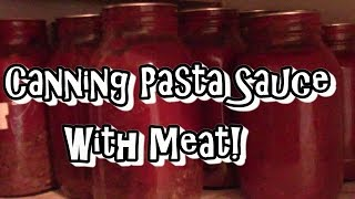 Home Canned Pasta Sauce With Meat