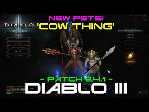[1080p] [60FPS] Diablo III: 'NEW' Pets - Meet The Cow Thing!