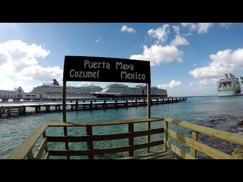 Cozumel Cruise Port Pier Tour At Puerta Maya (4K)