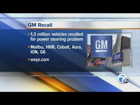 GM recalling more than 1.3 million cars over power steering issue