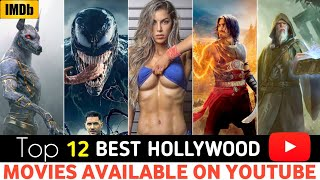 TOP 12 Best & New Hindi Dubbed Hollywood Movies | Available On YouTube