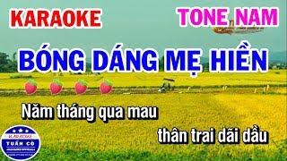 Karaoke Bóng Dáng Mẹ Hiền | Nhạc Sống Tone Nam | Karaoke Tuấn Cò