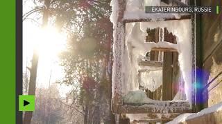 Un palais de glace apparait à Ekaterinbourg