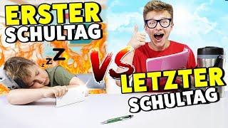 ERSTER Schultag  VS LETZTER Schultag 🤣 KRASS TipTapTube