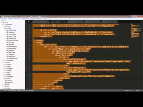 Cara Membuat Bootstrap Dengan Codeigniter