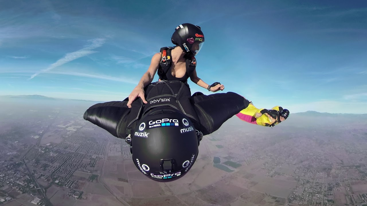 Girl With Camera Hd Wallpaper Gopro Fusion 360vr Wingsuit Rodeo Youtube