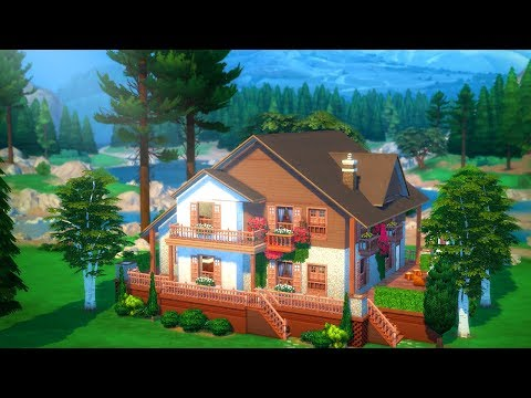 SIMS 4 PRETTY CHALET   Speed Build