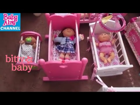 Baby Alive Cabbage Patch Kids and Bitty Baby CRIBS and HIGH CHAIRS and Playmats !