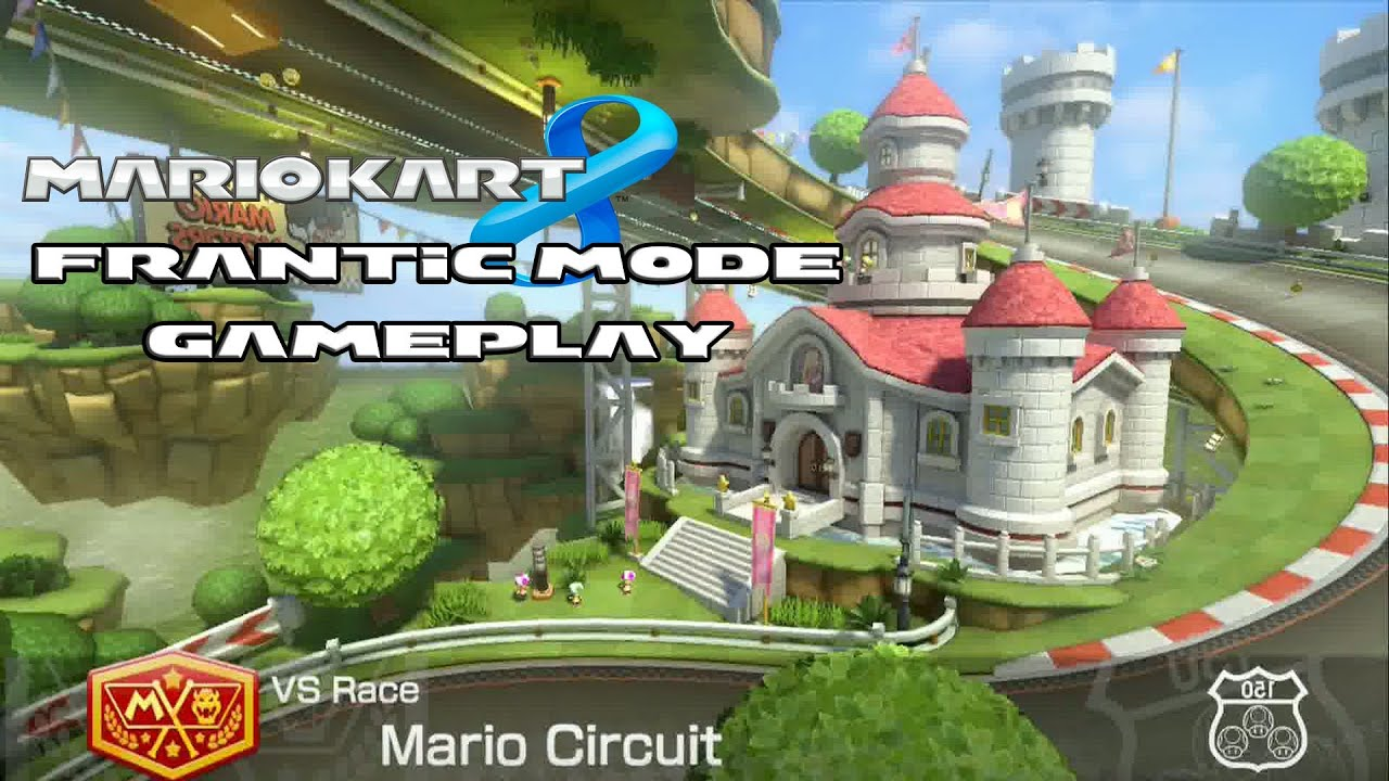 mario kart 8 mario circuit frantic mode lot 39 s of items gameplay hd youtube. Black Bedroom Furniture Sets. Home Design Ideas