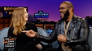 Amy Adams & Tyler Perry Teach James About Skinemax