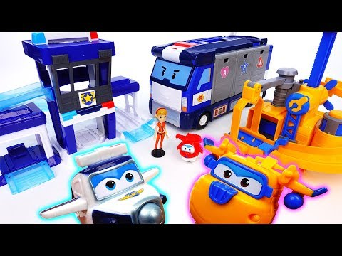 Thumbnail: Super Wings New Playset Arrived~! Paul's Police Station & Donnie's Fix It Garage - ToyMart TV