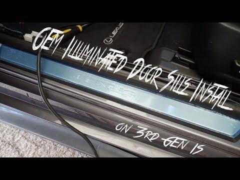 DIY Illuminated door sills install 3rd Gen IS Lexus OEM 3IS IS350 IS250 IS200t 2014 2015 2016 2017