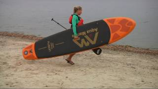 Video Aqua Marina 10' Deluxe Inflatable Stand Up Paddle Board on QVC download MP3, 3GP, MP4, WEBM, AVI, FLV Oktober 2018