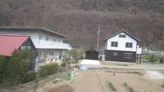 戸倉~坂城駅、しなの鉄道線、進行方向左側車窓から
