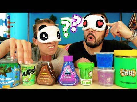 ERRATE DEN SCHLEIM - Kathi VS Kaan - WER WIRD SLIME-EXPERTE? Emoji Poop, Unicorn & Puupsi Slime